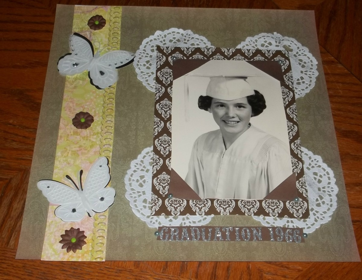 Doilies can be an interesting way to add dimension to a mat. They come in all shapes, colors and sizes
