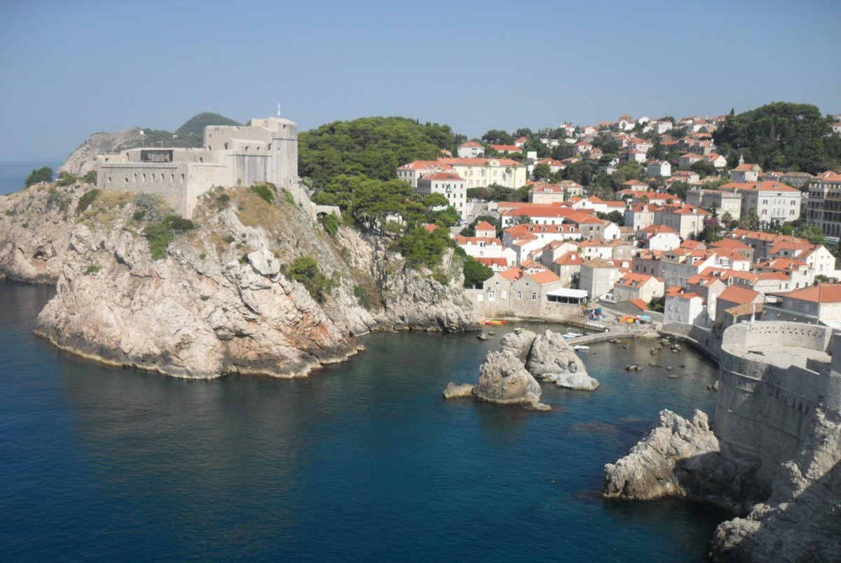 View over the western bay of Old Dubrovnik and Pile