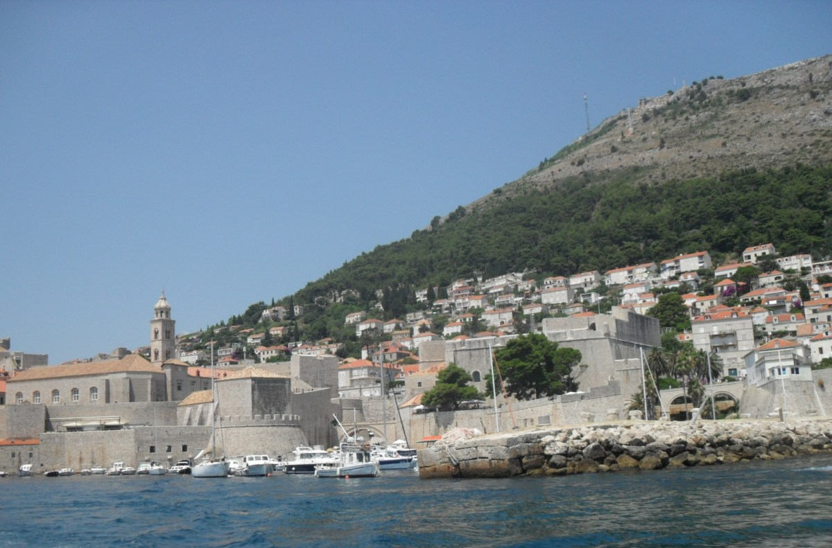 Eastern Dubrovnik and the old city walls