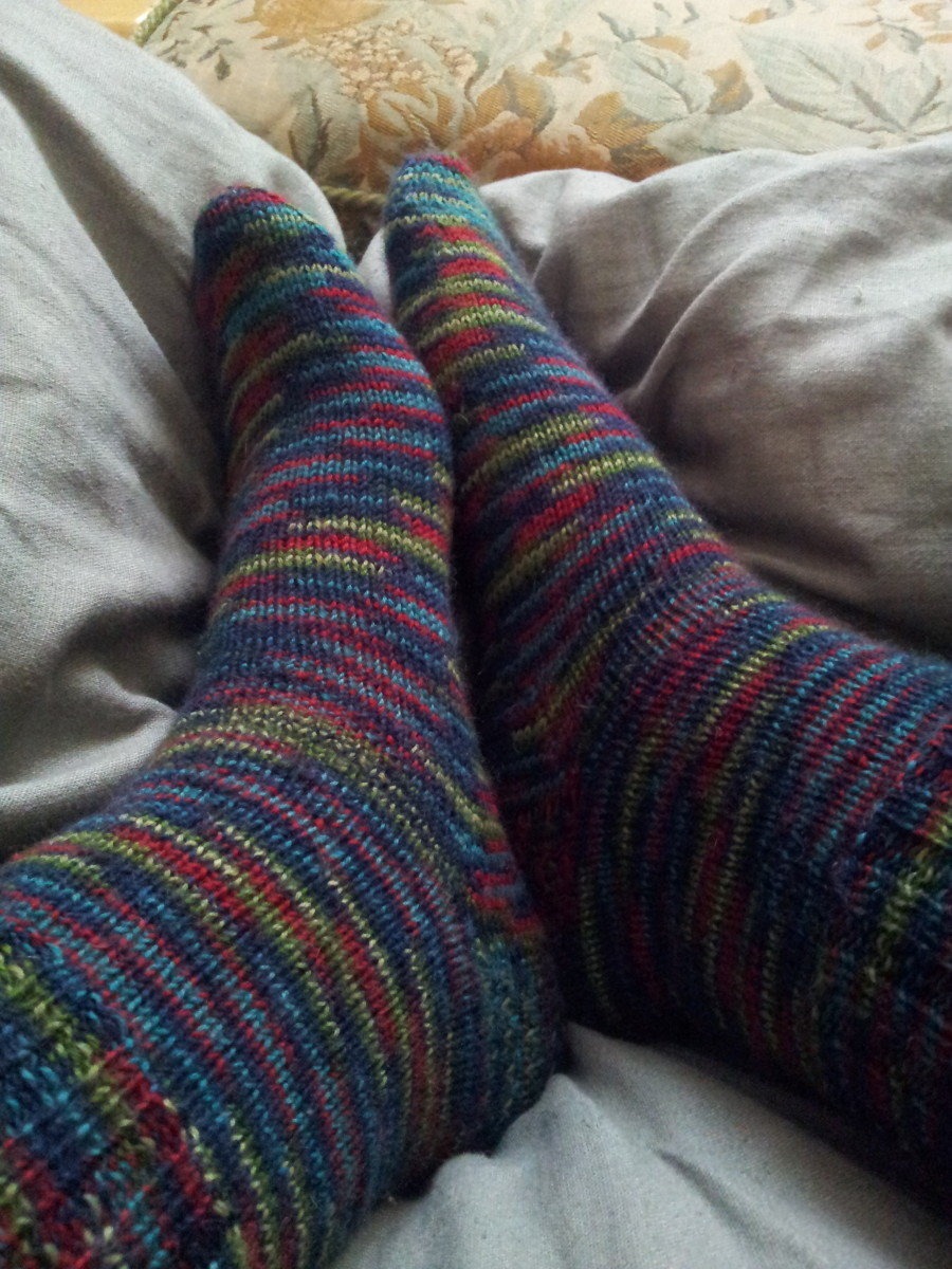 Knit Sock Patterns Free Beginners : Cleio on HubPages