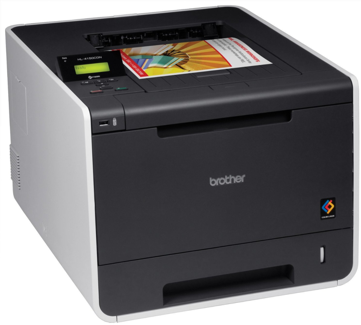 Brother laser printer HL4150CDN with Color duplex printing and networking