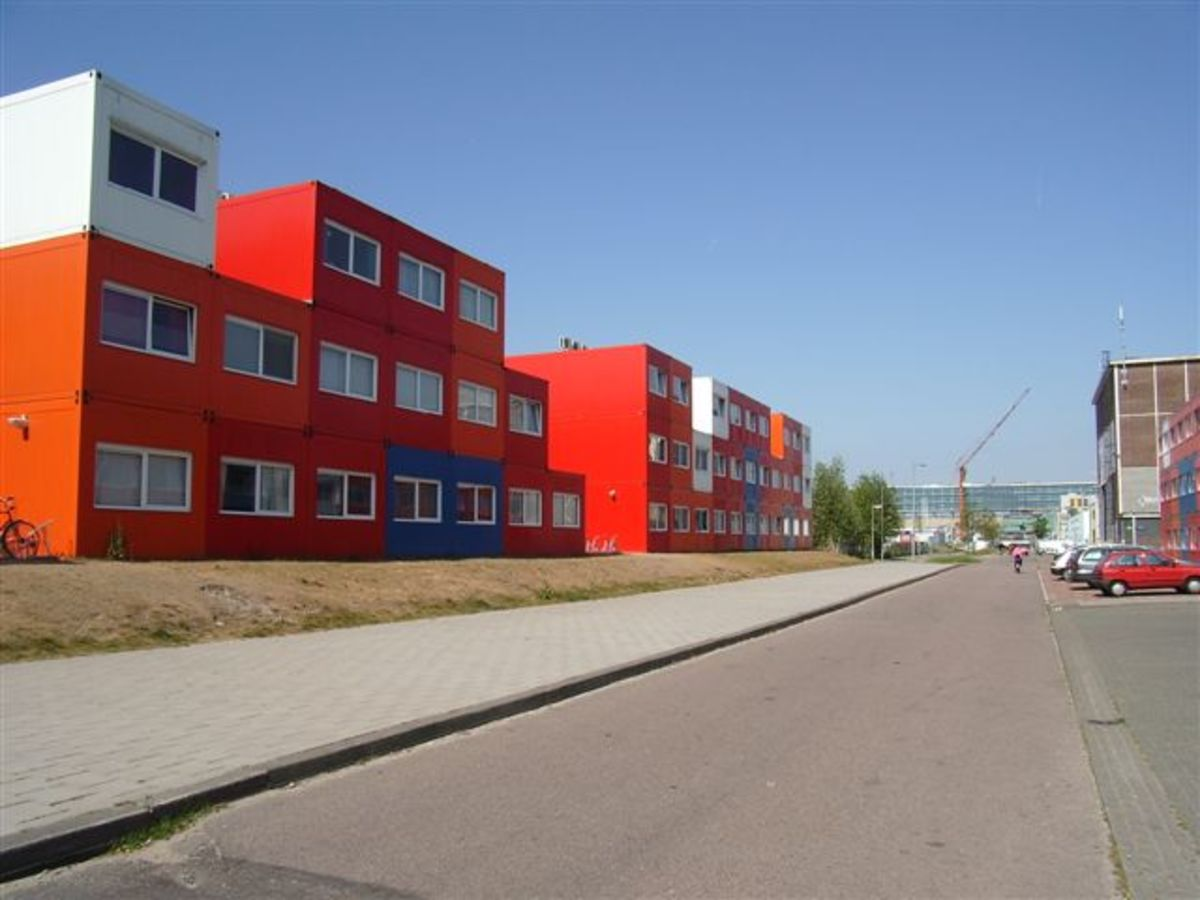Similar project in Amsterdam using shipping containers to provide student housing