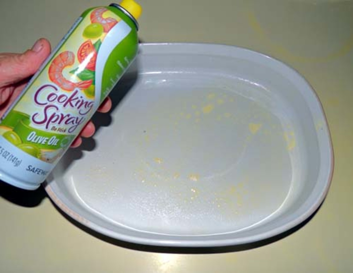 grab a 9 x 13 casserole dish, and spray with cooking spray if desired
