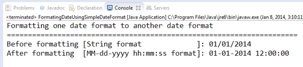 How to convert one date format to another date format in Java