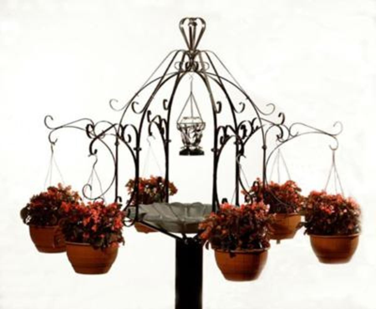 Decorative metal plant stand.