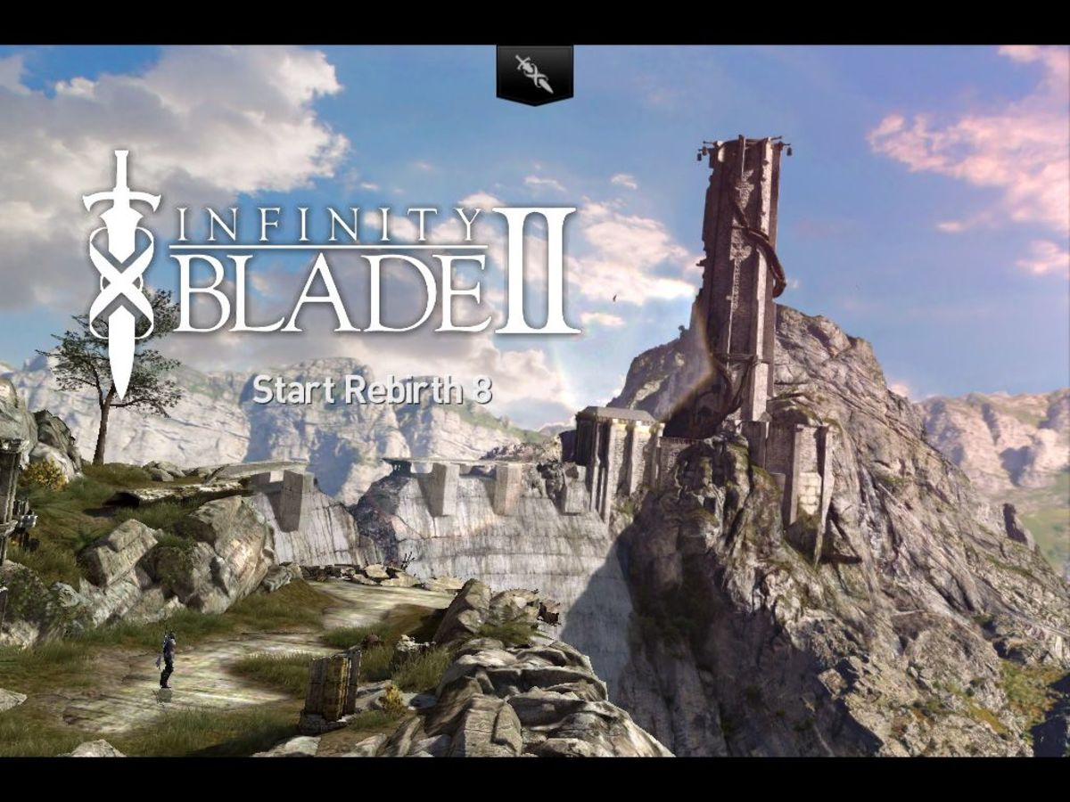 Infinity Blade II Start Screen