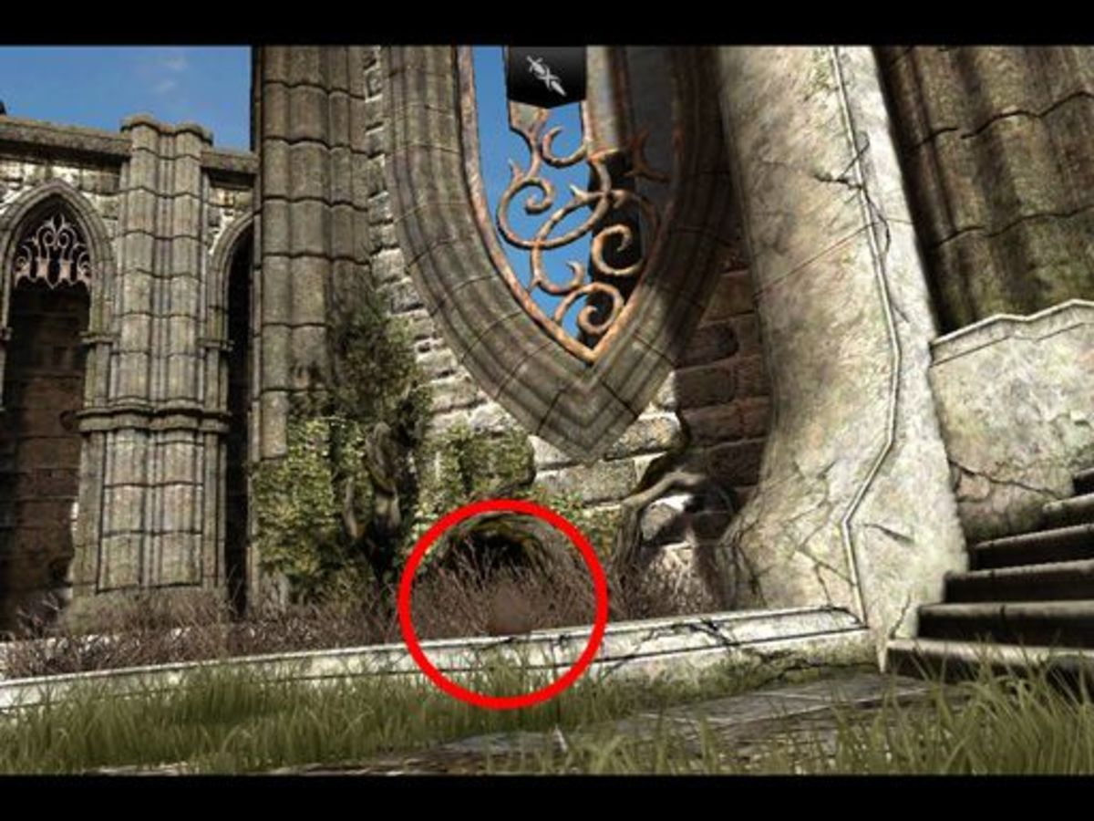 ...one bag on the left curb (which was hidden by the back end of the spear from the front),
