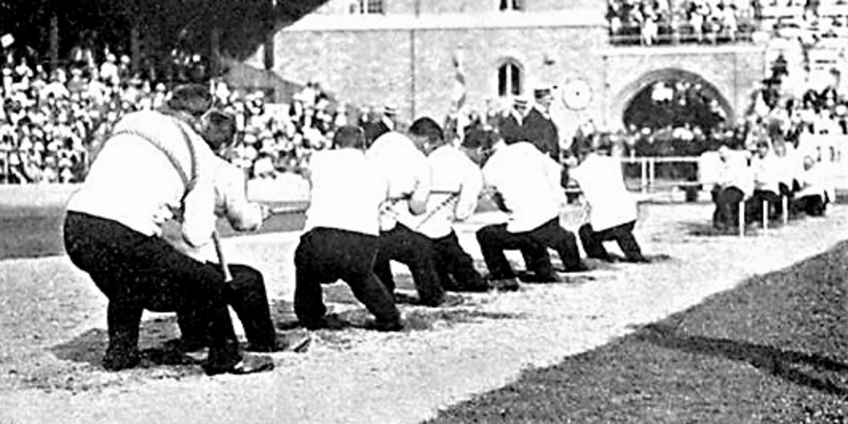 Great Britain versus Sweden at the 1912 Olympic Games