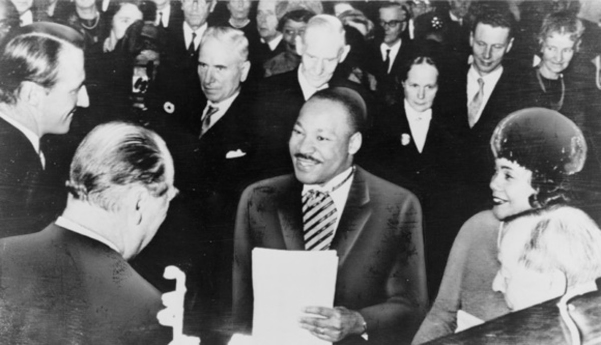 Martin Luther King, directly after winning the Nobel Peace Prize in 1964