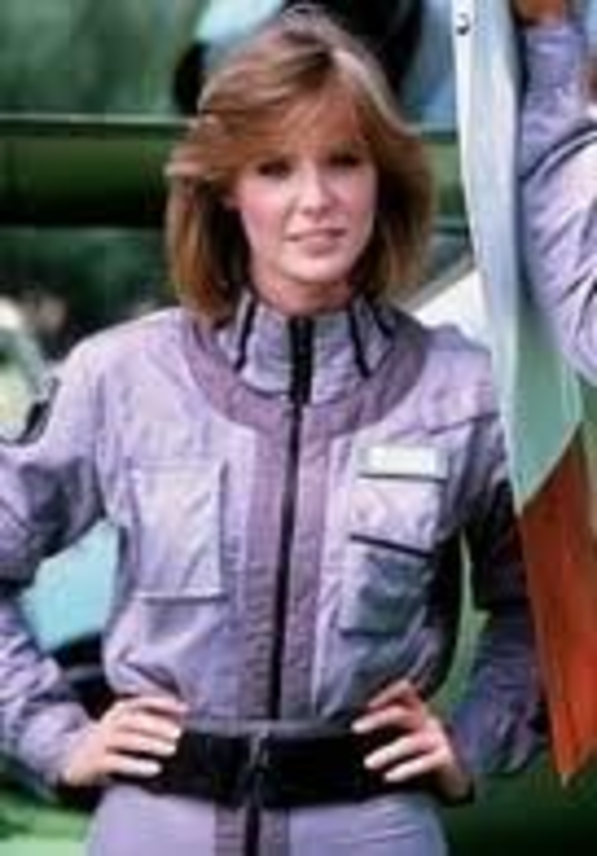 Jean Bruce Scott as the adventure seeking Caitlin O'Shaughnessy in the second and third seasons of the iconic show Airwolf