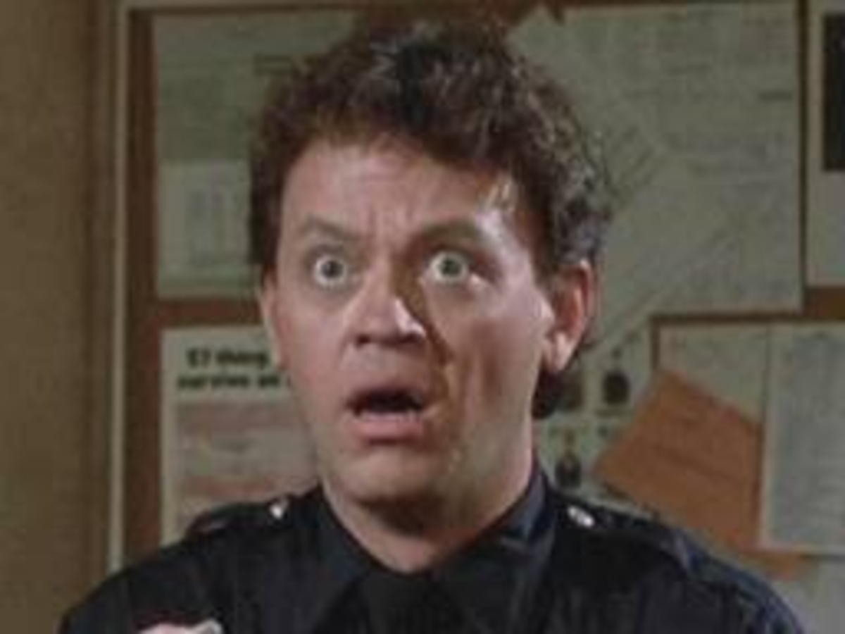 """Comedic actor David Graf, who starred in the Police Academy movie franchise played goon Billie in the Airwolf episode """"Sweet Britches"""""""