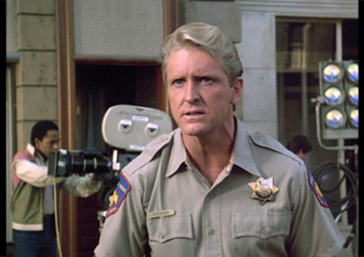 Actor John Calvin as Blaze in the pilot episode of Airwolf