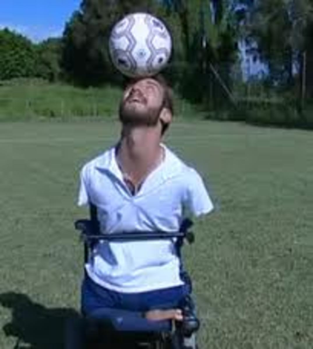 Playing with a soccer ball
