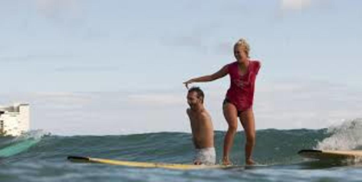 Surfing with Bethany Hamilton
