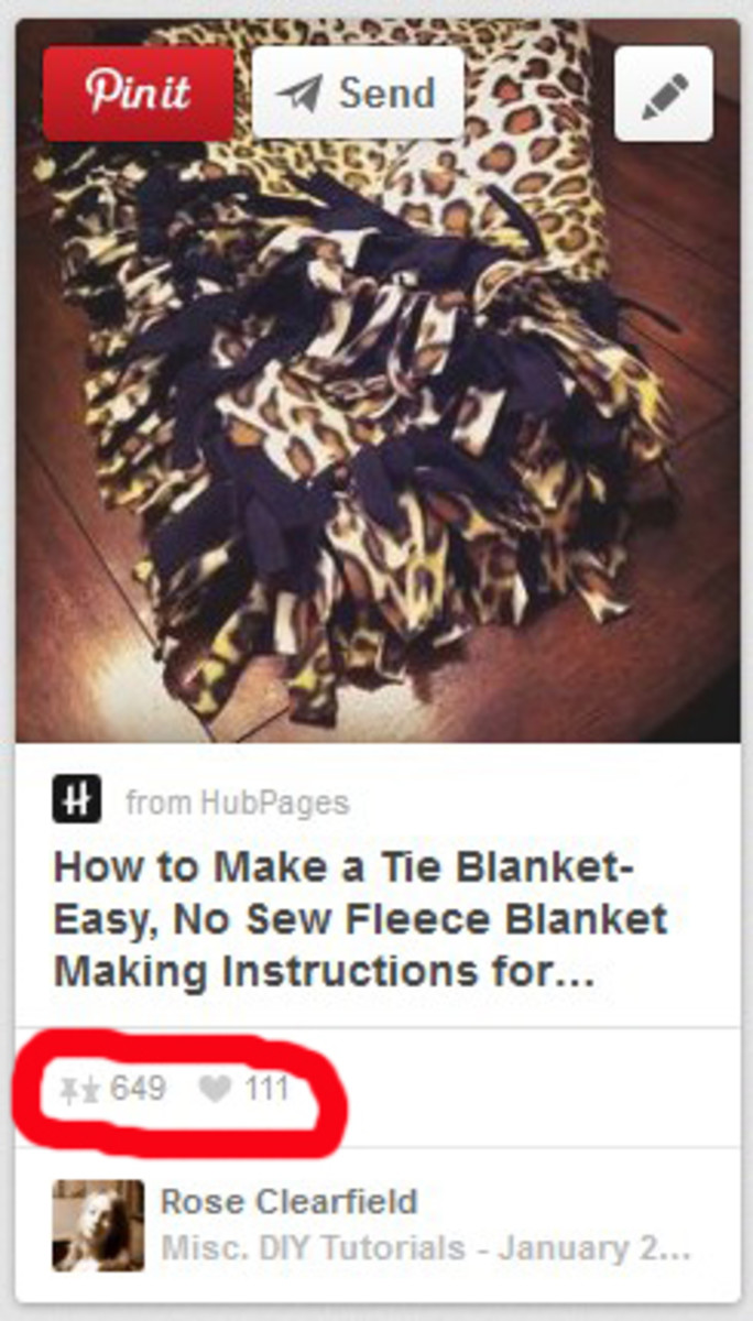 As of January 2014, there are more than 600 pins and 111 likes for this HubPages article just from my share on Pinterest. You never know how far one share will take someone!