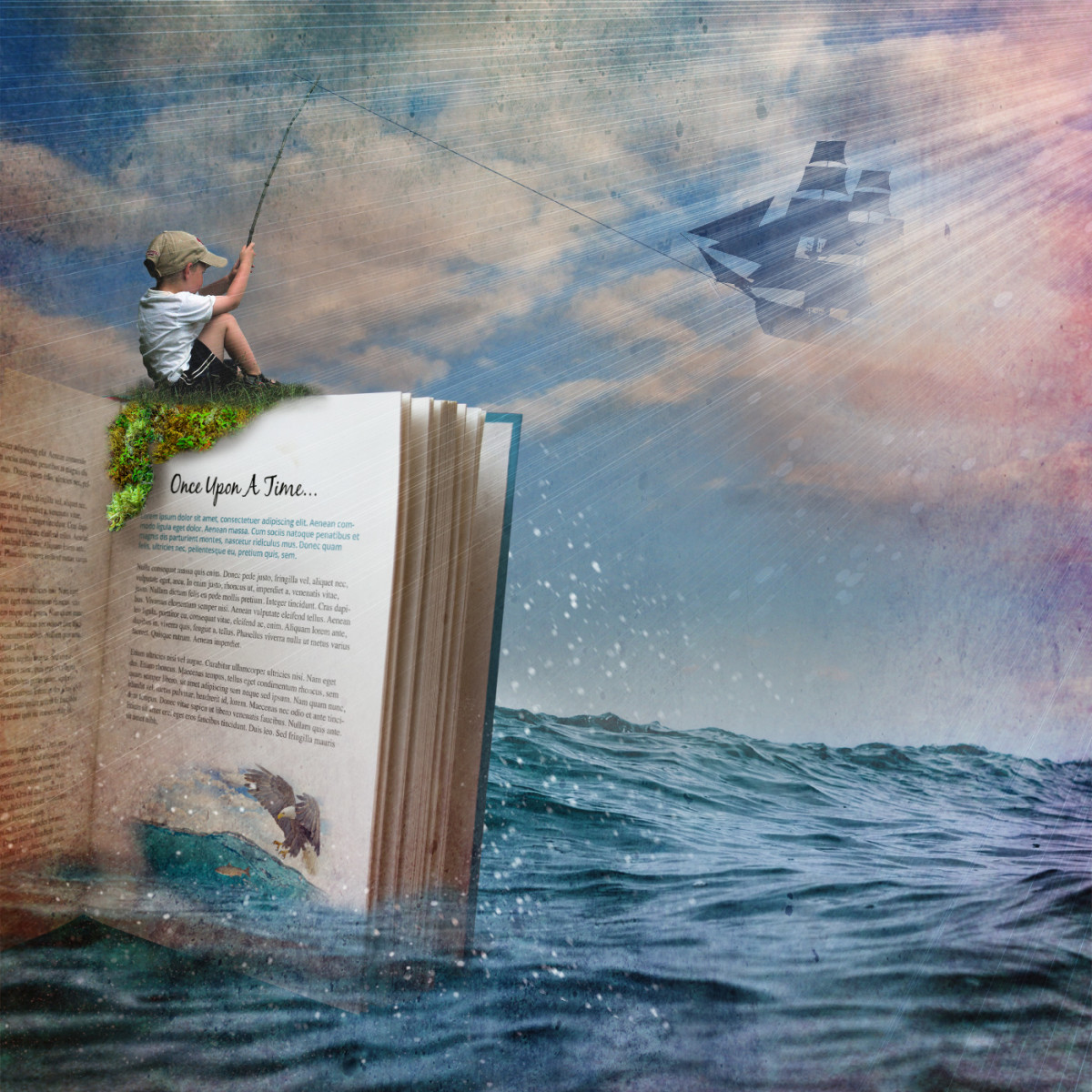 Fishing for adventure in a good book.