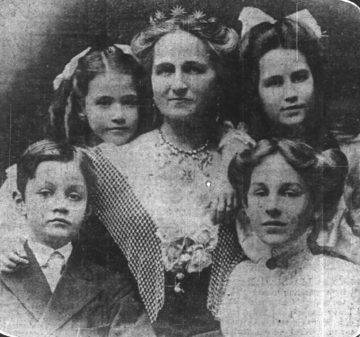 Image: Rose Selfridge and children
