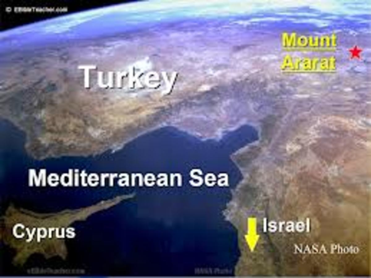 Where Noah's Ark is believed present on Mount Arafat.