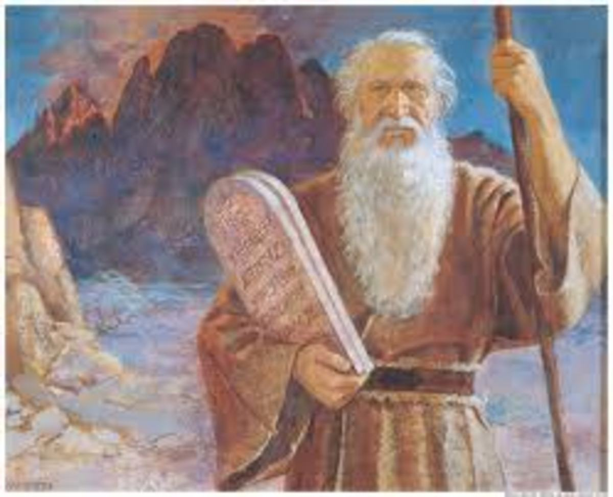 Moses and the Ten Commandments.