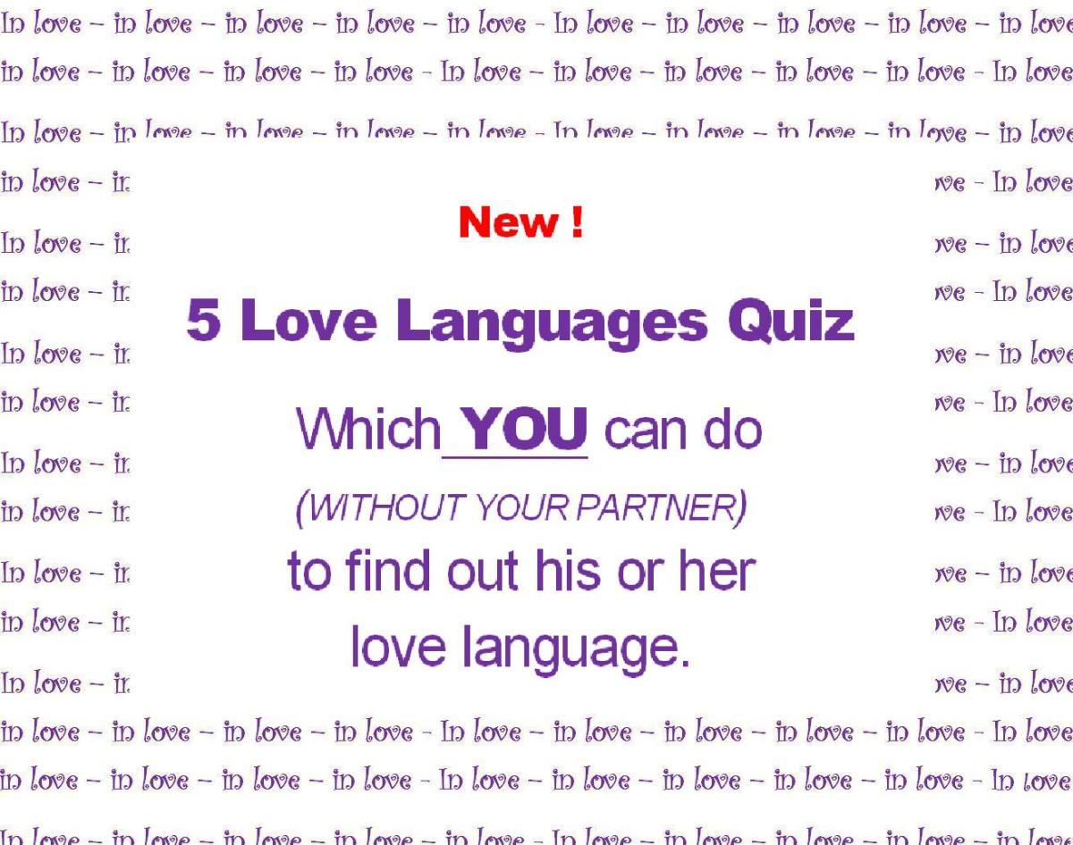 5 Love Languages Gary Chapman Quiz