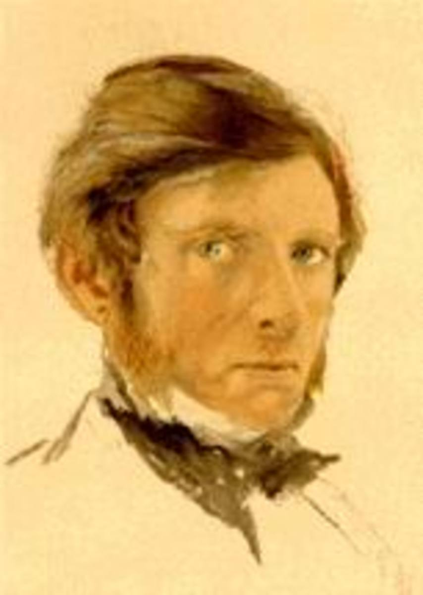 John Ruskin (1819 - 1900), watercolourist, writer, art critic and philanthropist
