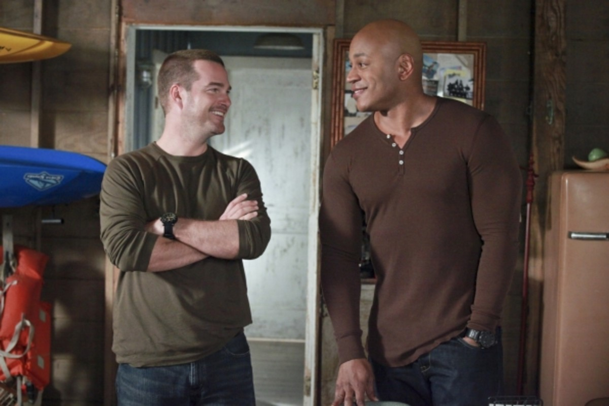 Special Agent in Charge G. Callen and his partner, Special Agent Sam Hanna.