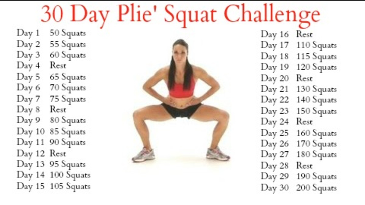 30 Day Plie' Squat Challenge