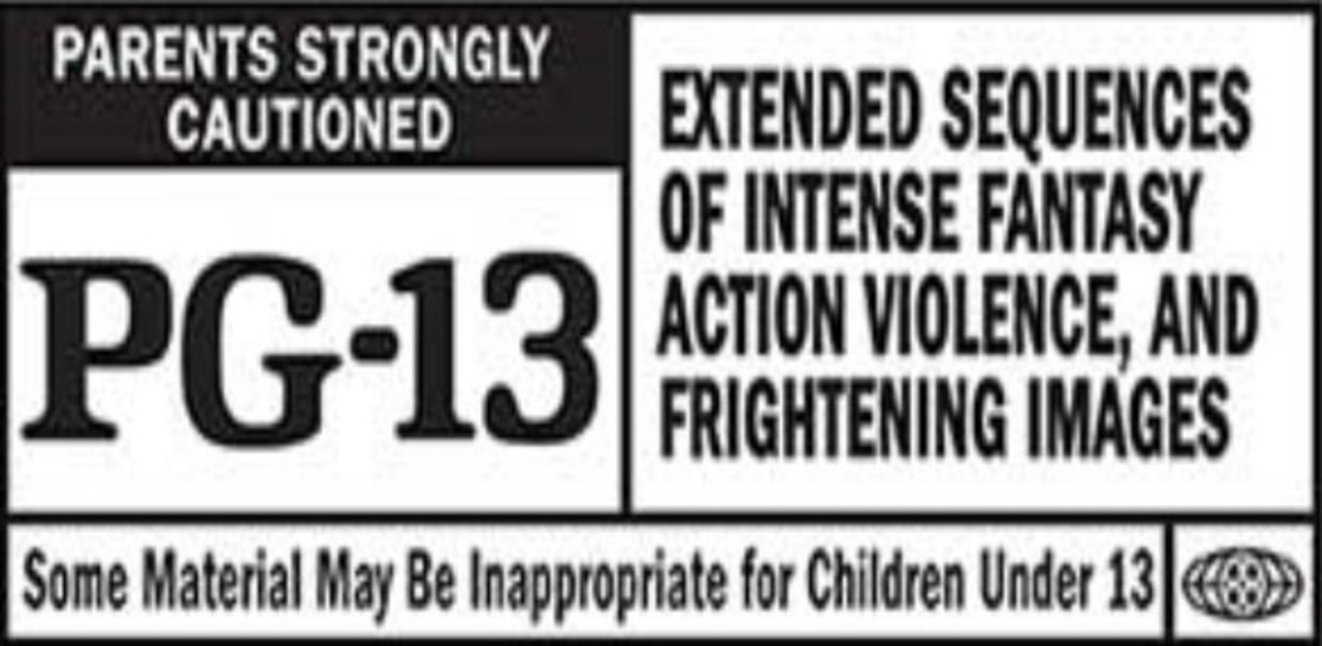 An example of what a movie rating might look like.