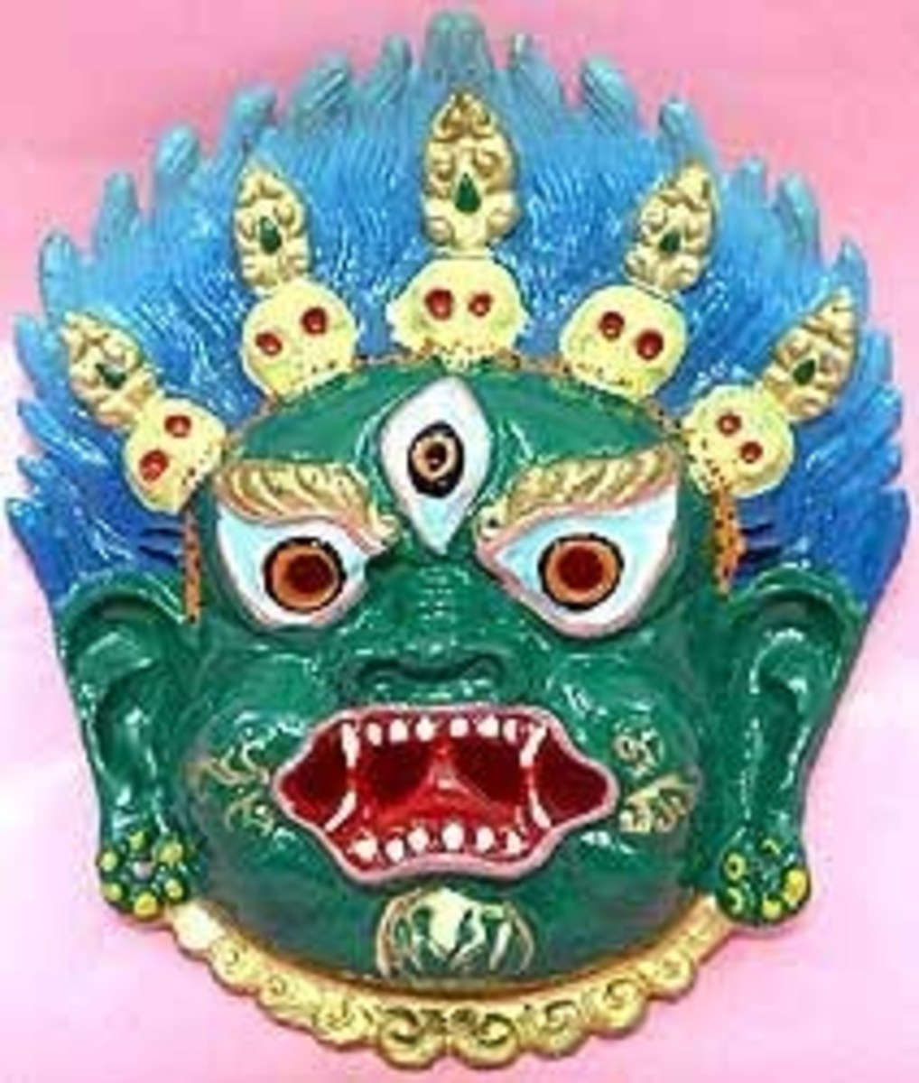 THE BUDDHIST MAHA KAAL MASK