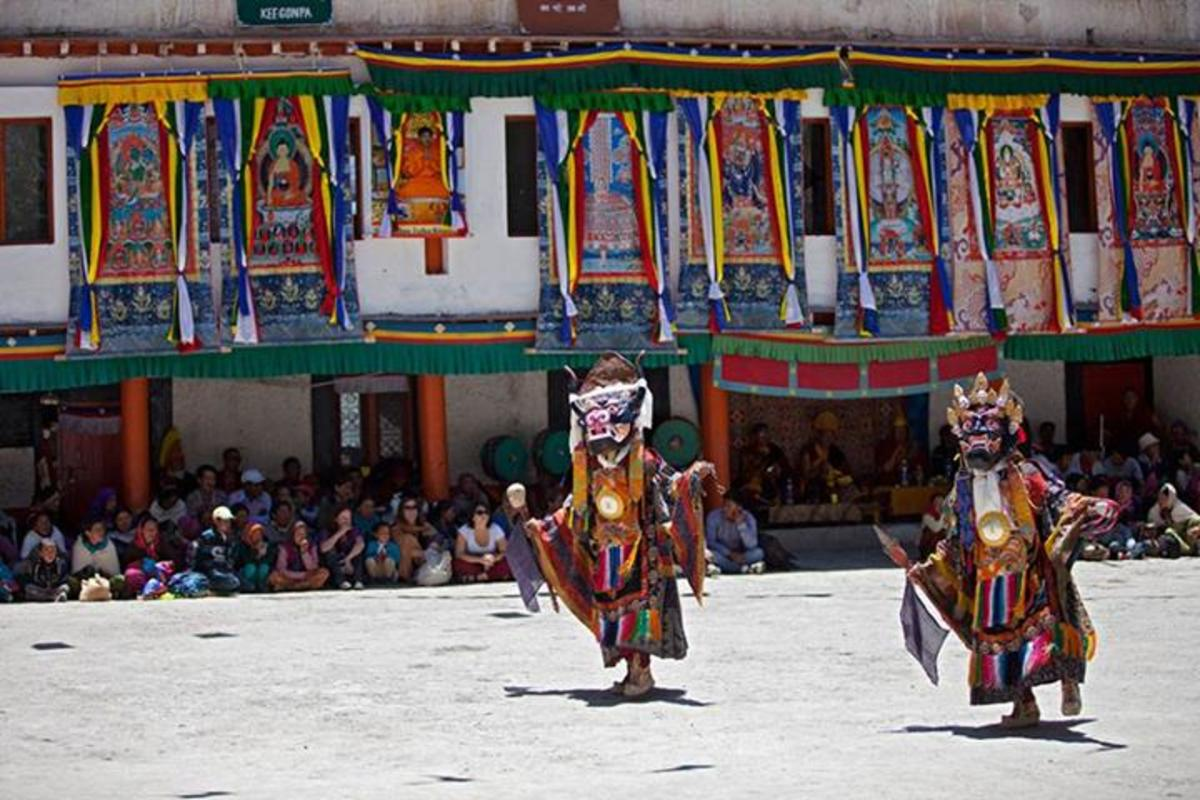 Chham or the devil dance at Key monastery Spiti