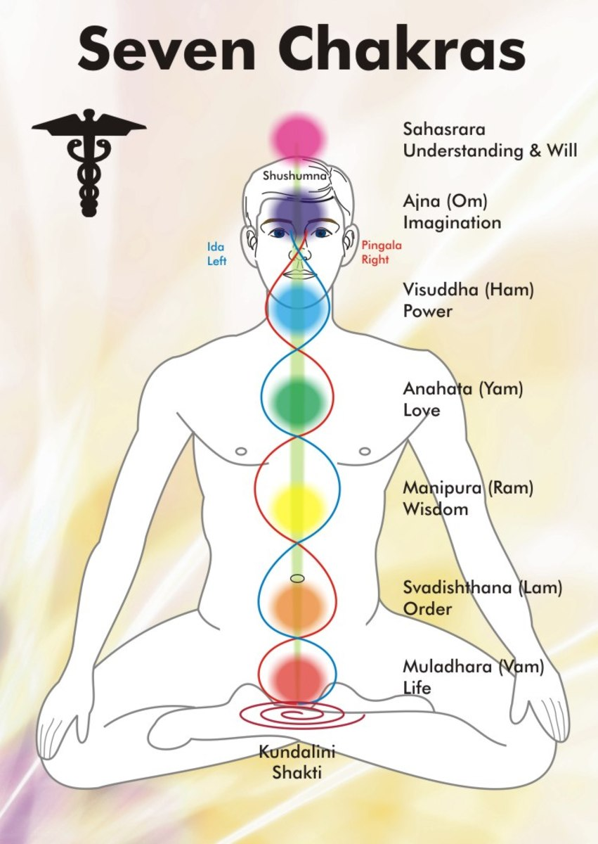 The Seven Chakra Centers and Their Colors