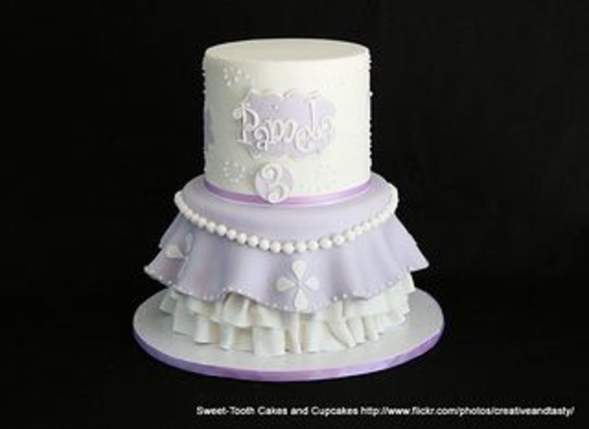 Sofia the first birthday cake by Sweet-Tooth Cakes and Cupcakes