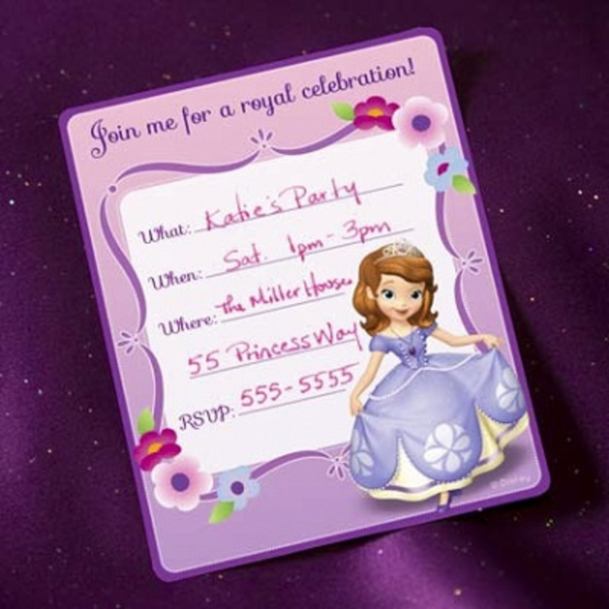 Free Sofia the first printable invitations