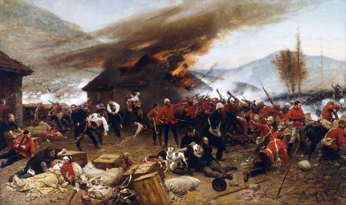 The Battle of Rorke's Drift (1879) - Aphonse de Neuville