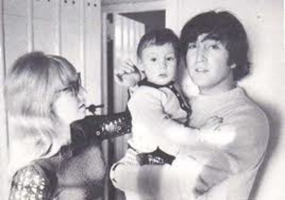 Cynthia, Julian and John Lennon