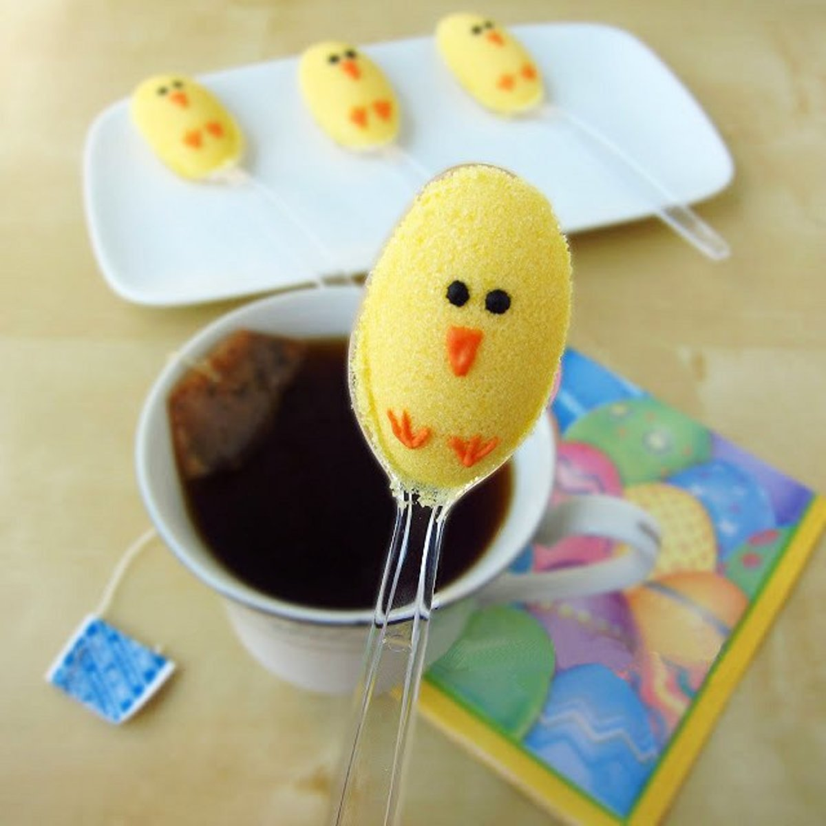 Easter Chick Sugar Spoons
