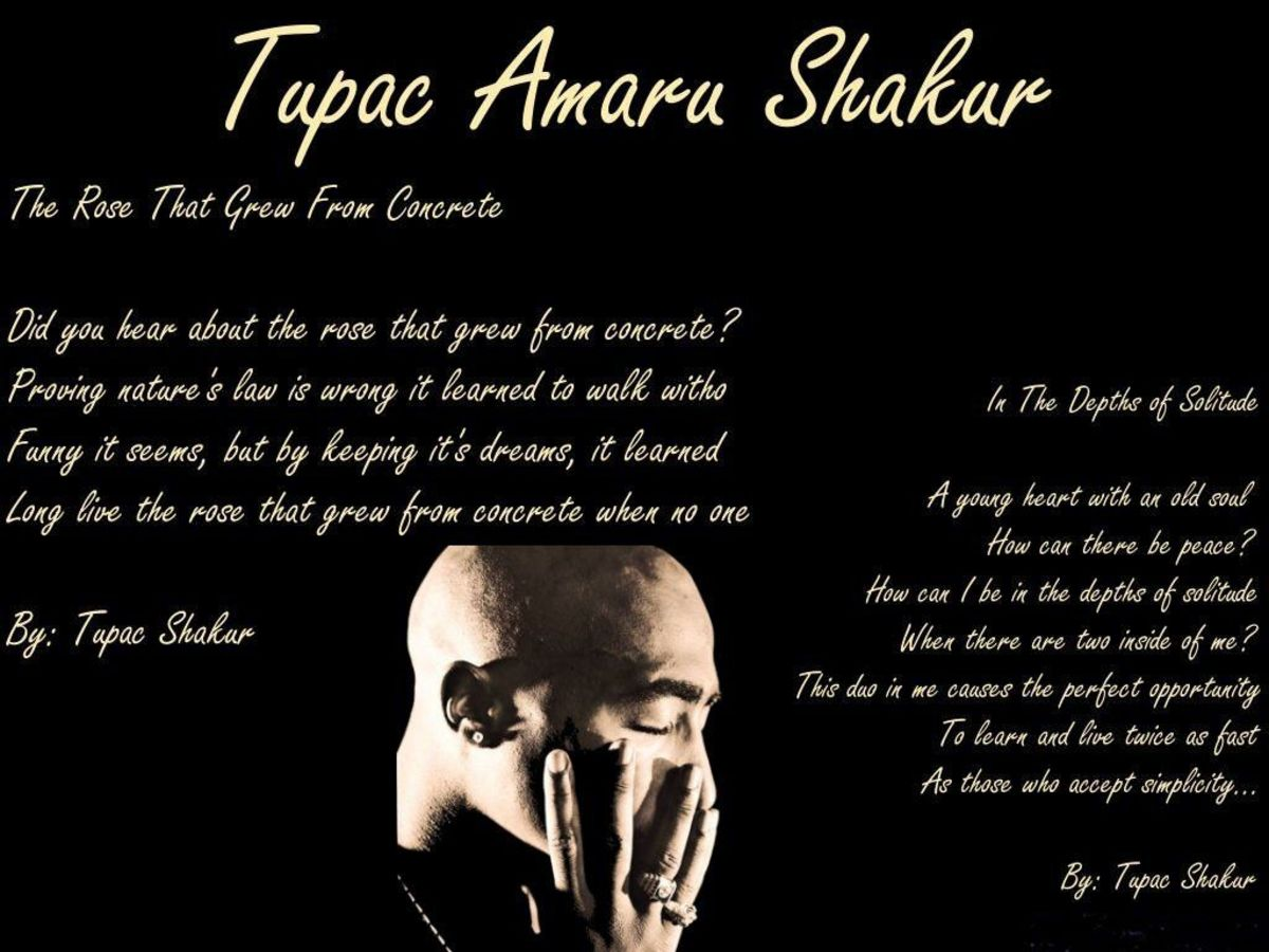 The Poetry of Tupac Shakur | HubPages