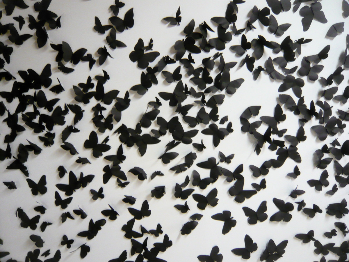 You can make paper butterflies out of scrapbook paper, music paper, book pages, and much more.