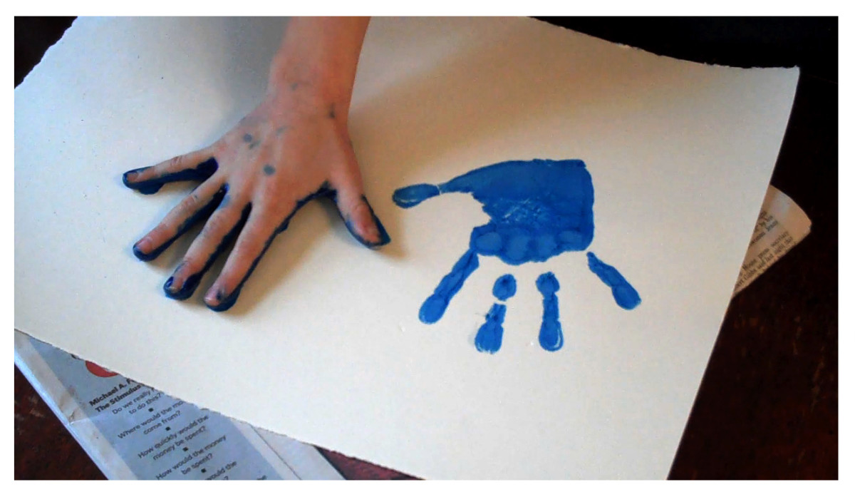 There are so many creative possibilities for these hand prints.