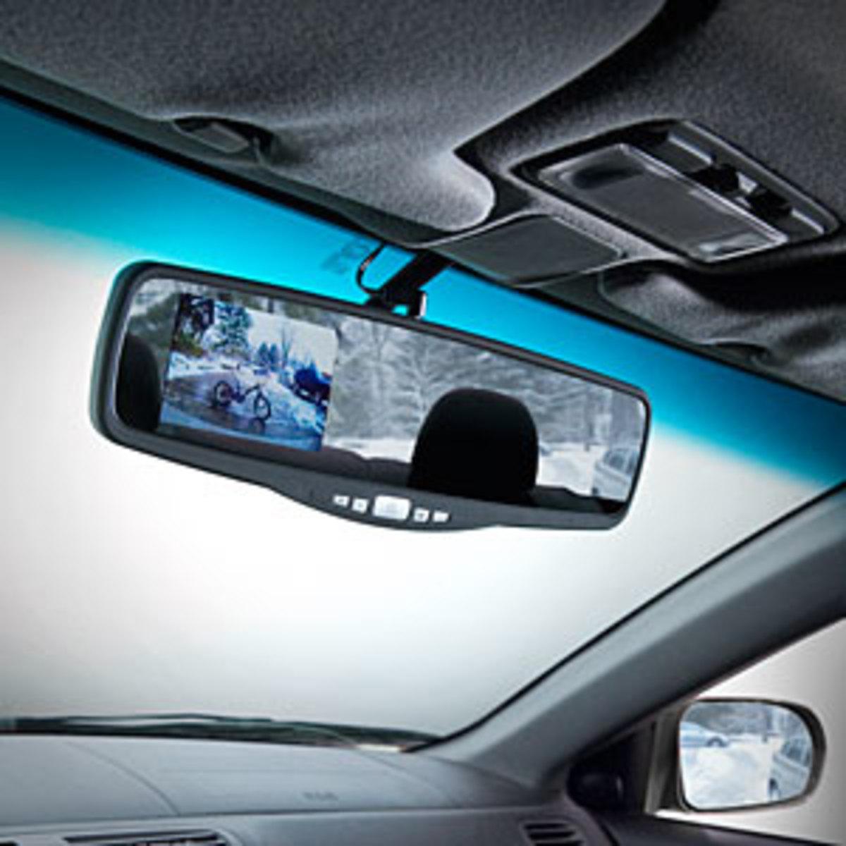 Rear view mirror backup camera