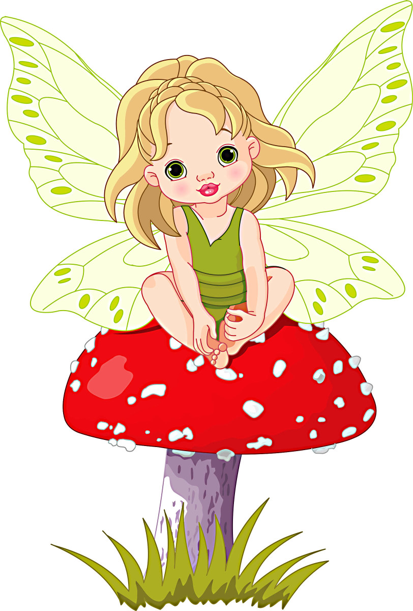 The fairy on a toadstool