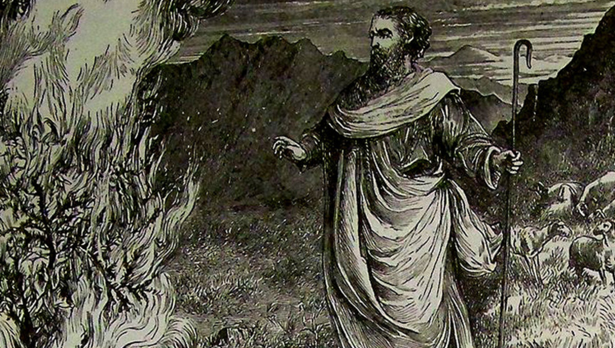 Moses and the Burning Bush, taken from the 1890 Holman Bible