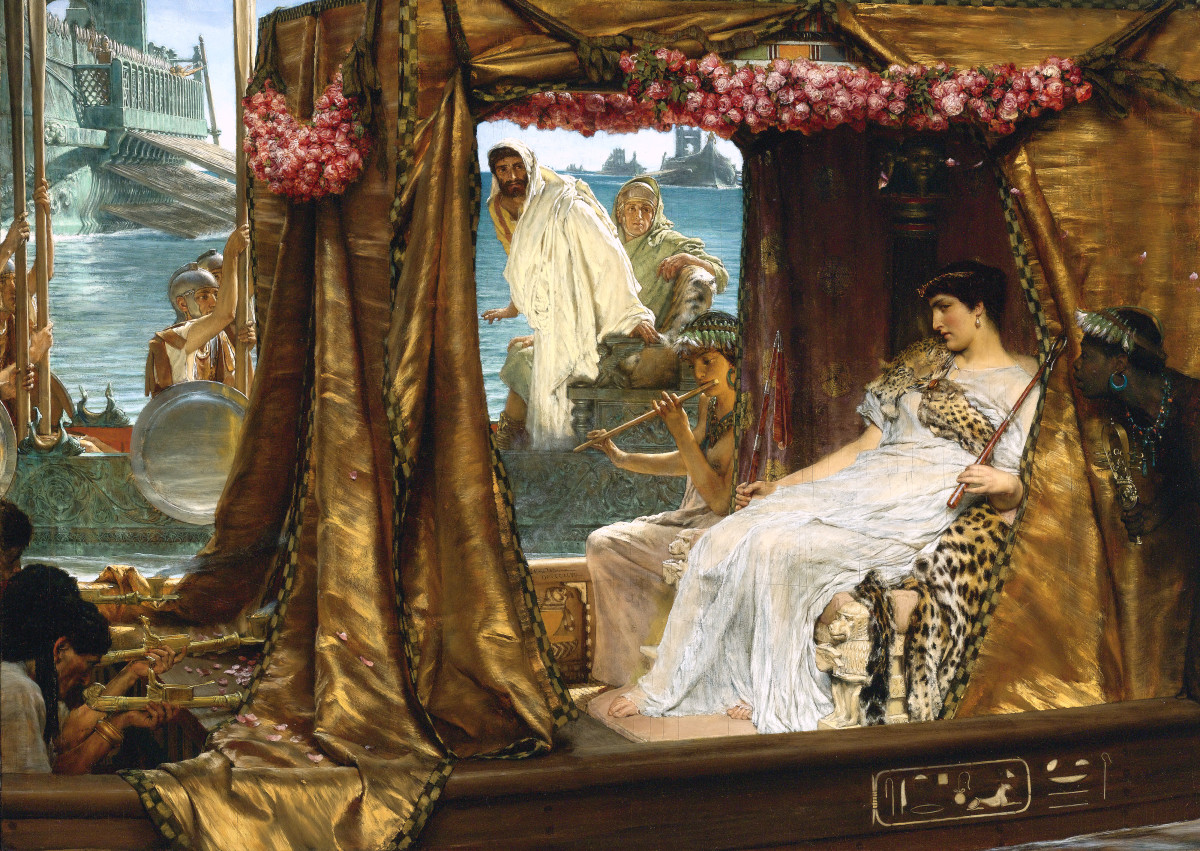 The Meeting of Antony and Cleopatra by Sir Lawrence Alma-Tadema