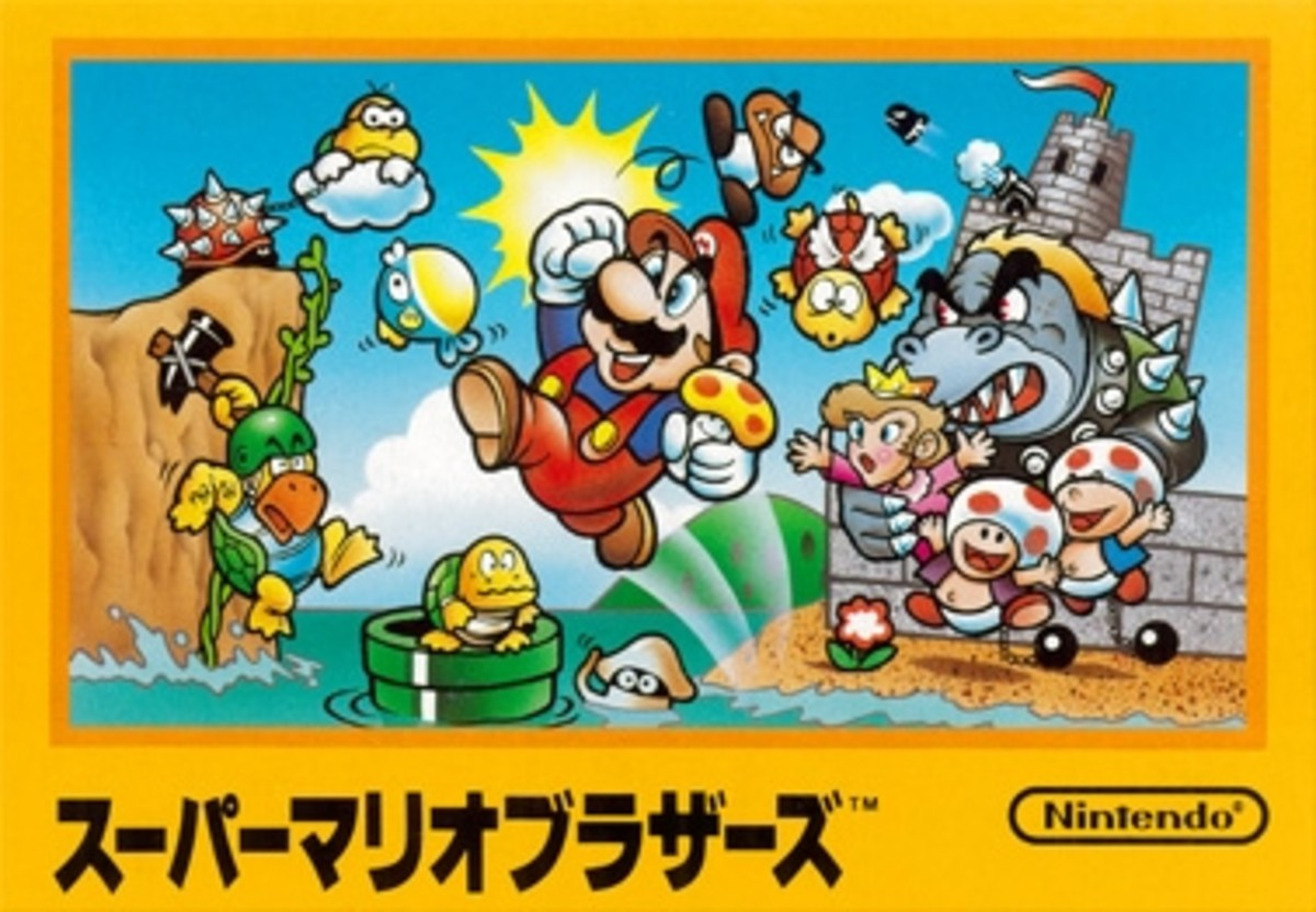 Super Mario Bros. Japanese box art.