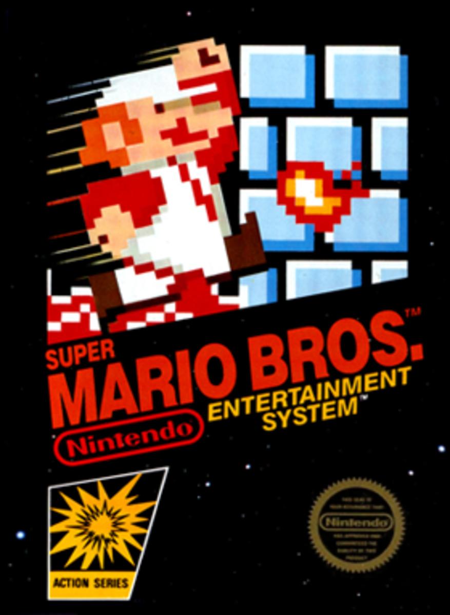 Super Mario Bros. North American box art.