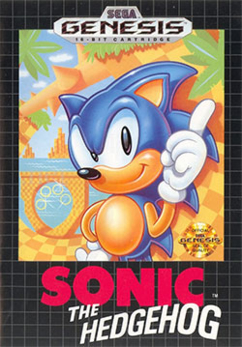 Sonic the Hedgehog North American box art.