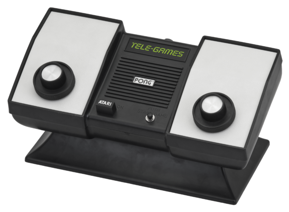 The Sears Tele-Games Atari Pong console, released in 1975.