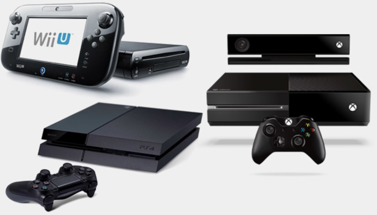 The eighth generation: Wii U, PlayStation 4, Xbox One.