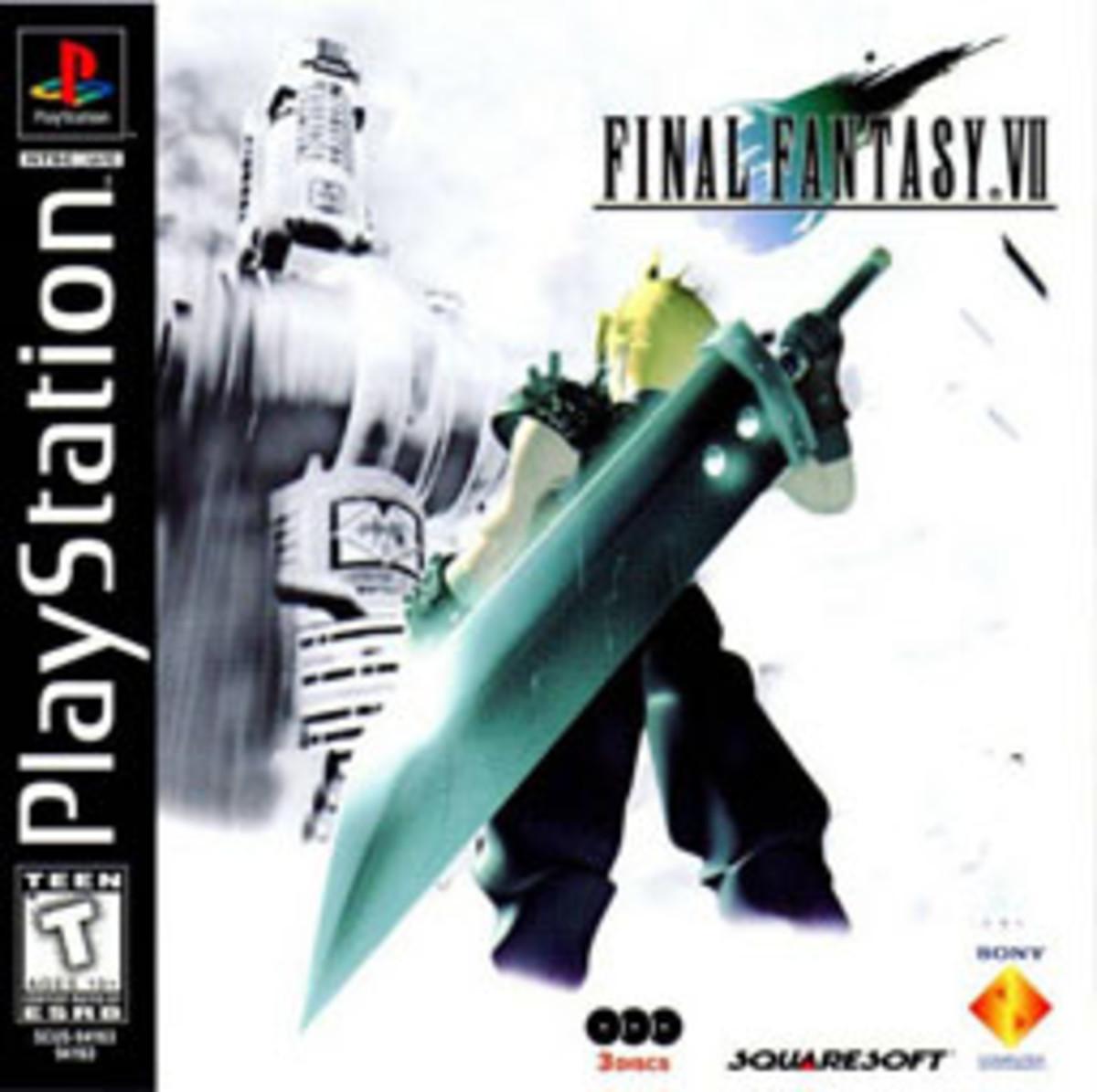 Final Fantasy VII box art.