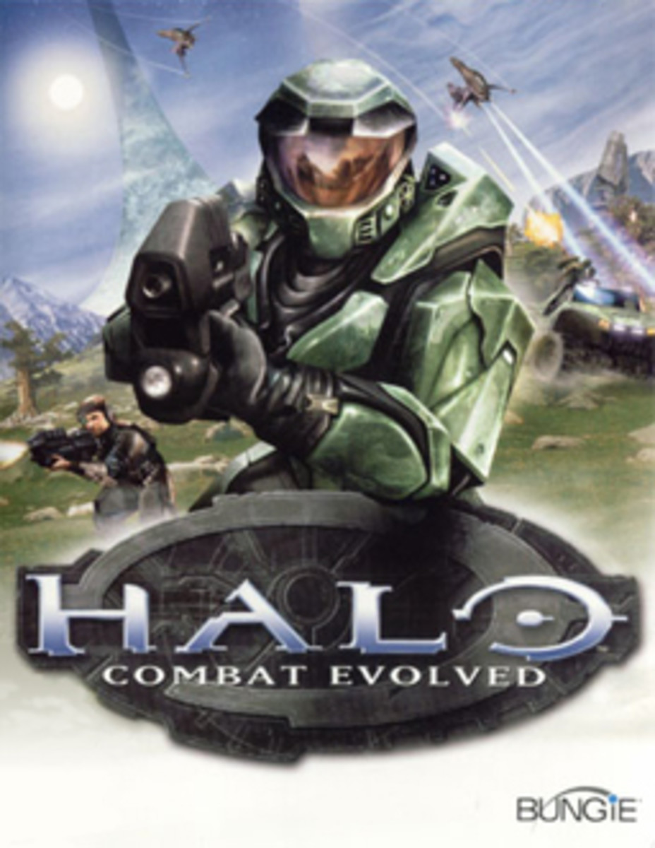 Halo: Combat Evolved Xbox box art.